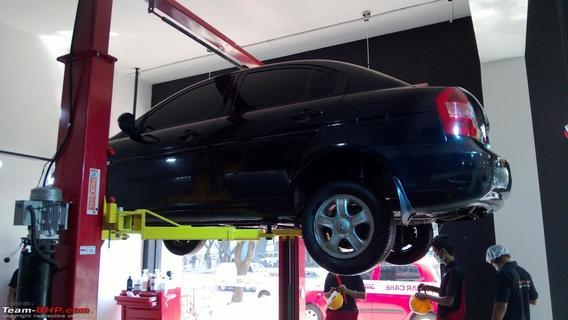 Антикоррозийная обработка кузова автомобиля.