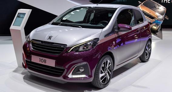 Пежо 108 — новый концепт на Женевском автосалоне.